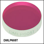 Longpass Dichroic Mirrors/Beamsplitters: 605 nm Cutoff Wavelength