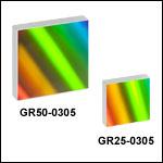 500 nm Blaze Wavelength Reflective Diffraction Gratings