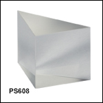 UV Fused Silica Right-Angle Prisms, Uncoated (185 nm - 2.1 µm)