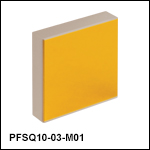 Square Protected Gold Mirrors