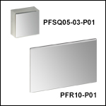 Rectangular Protected Silver Mirrors