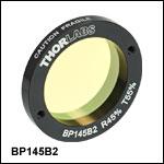 45:55 (R:T) Pellicle Beamsplitters, Coating: 700 - 900 nm