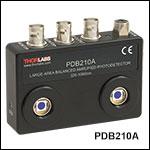 Large-Area Balanced Amplified Photodetectors
