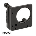 Ø2in Kinematic Mount for Optics up to 0.10in (2.5 mm) Thick