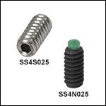 4-40 Stainless Steel or Alloy SteelSetscrews