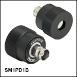 SM1-Threaded Mounted Photodiode, Anode Grounded