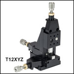 XYZ Three-Axis Miniature Translation Stage, 1/2in Travel