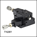 XY Two-Axis Miniature Translation Stage, 1/2in Travel
