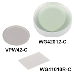 UV Fused Silica Broadband Windows, AR Coated: 1050 - 1700 nm