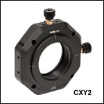 XY Translator for 60 mm Cage Systems