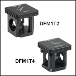 30 mm Cage-Compatible, Kinematic Beam-Turning Cube Bases and Inserts for Right-Angle Optics