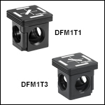 30 mm Cage-Compatible, Kinematic Fluorescence Filter Cube Tops and Bottoms