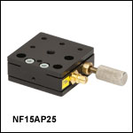 Single-Axis Flexure Stages: 1.5 mm Travel