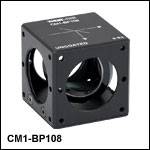 8:92 (R:T) Cube-Mounted Pellicle Beamsplitter, Uncoated: 400 - 2400 nm