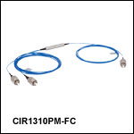 PM Optical Circulators, 1310 nm