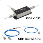 PM Optical Circulators, 1550 nm
