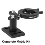 Optics Cleaning Fixture Kit for Ø0.15in to Ø1.77in Optics, Metric
