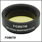 Mounted Bandpass Colored Glass Filter: 900 - 1375 nm