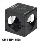 45:55 (R:T) Cube-Mounted Pellicle Beamsplitter, Coating: 400 - 700 nm