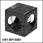 45:55 (R:T) Cube-Mounted Pellicle Beamsplitter, Coating: 400 - 700 nm