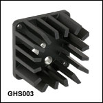 Galvo Mount Heatsink and Post Mounting Adapter