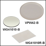 UV Fused Silica Broadband Windows, AR Coated: 650 - 1050 nm