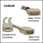 Laser Diode Current Controller and Temperature Controller Connection Cable