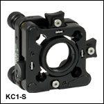 30 mm Cage-Compatible SM1-Threaded Kinematic Mount with Slip Plate