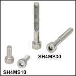 M4 x 0.7 Stainless Steel Cap Screws