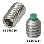 1/4in-20 Stainless Steel Setscrews