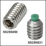 1/4in-20 Stainless Steel Setscrews