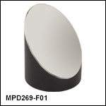 Ø2in 90° Off-Axis Parabolic Mirrors, UV-Enhanced Aluminum Coating
