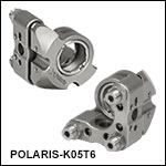Ø1/2in Polaris<sup>®</sup> SM05-Threaded Kinematic Mirror Mount, 3 Adjusters