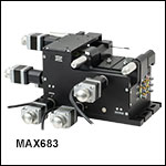 6-Axis NanoMax Stage with Stepper Motor Actuators