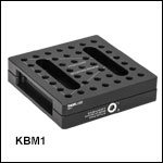 Lockable Kinematic Breadboard: 3.94in x 3.94in (100 mm x 100 mm)