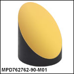 Ø3in 90° Off-Axis Parabolic Mirrors, Protected Gold Coating