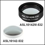 High-Precision, CNC Polished Aspheric Lenses, 532 nm V Coating