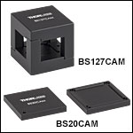Beamsplitter Adapters for use with Compact Cage Cubes