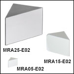 Right-Angle Prism Mirrors, Broadband Dielectric Coating (400 nm - 750 nm)