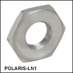 1/4in-100 Adjuster Lock Nut, Stainless Steel