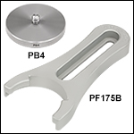 Ø1.5in Post Pedestal Base Adapter and Clamping Fork