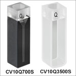 UV Fused Quartz Cuvettes with Airtight Stoppers, 2 Polished Sides