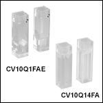 UV Fused Quartz Cuvettes with Airtight Stoppers, 4 Polished Sides