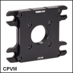 Vertical Mounting Plate for 30 mm and 60 mm Cage Systems