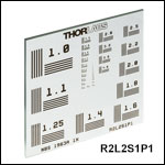 High-Frequency NBS 1963A Resolution Test Targets, 2in x 2in