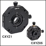 XYZ Translator for Ø1/2in and Ø1in Optics