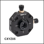 XYZ Translator for Ø1/2in Optics, 30 mm Cage Compatible and Post Mountable