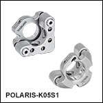 Polaris<sup>®</sup> Ø1/2in Kinematic Mirror Mounts, 2 Adjusters