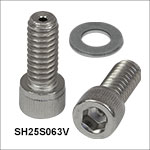 Vented, Vacuum-Compatible Cap Screws and Washers