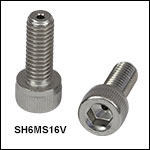 Vented, Vacuum-Compatible M6 x 1.0 Cap Screws